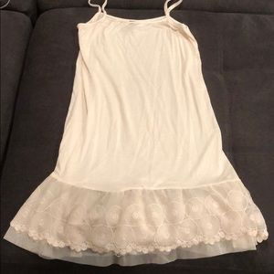 Light cream slip dress size M
